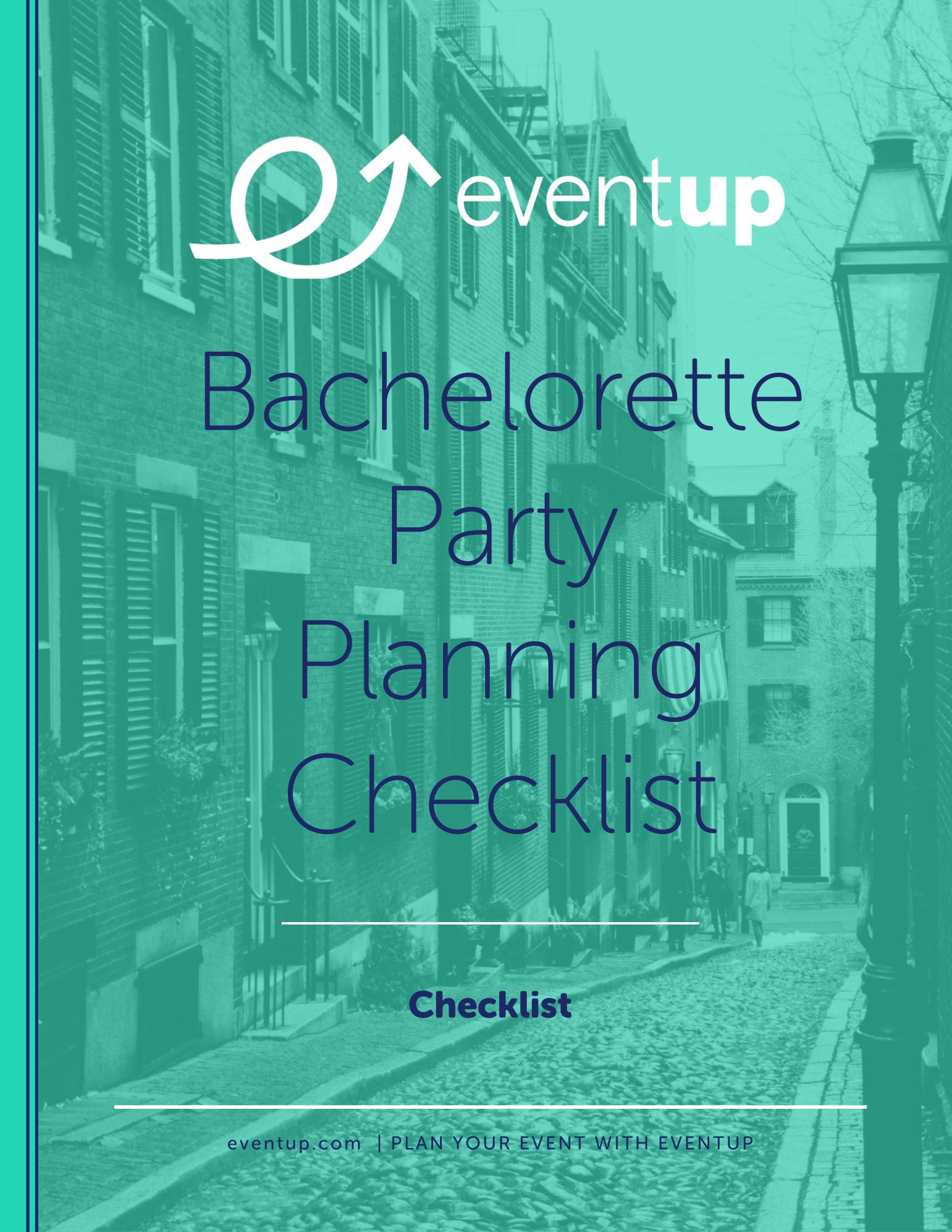 EventUp - Bachelorette Party Planning Checklist
