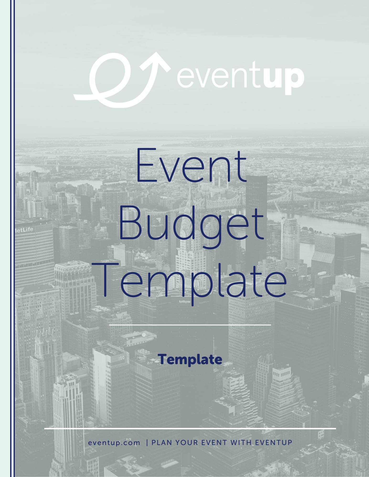 EventUp - Event Budget Template